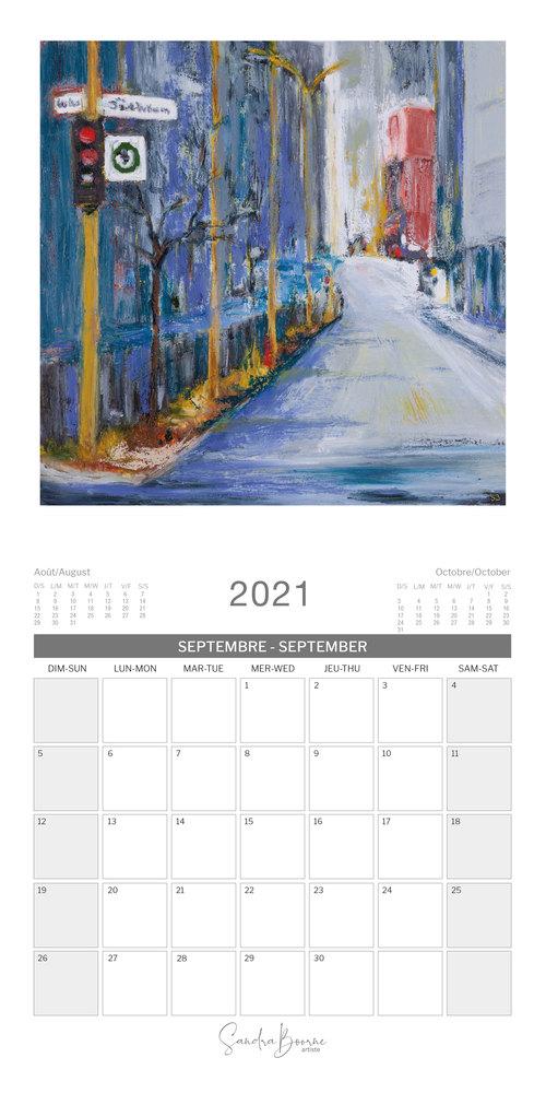 Sandra Calendar 2021 September