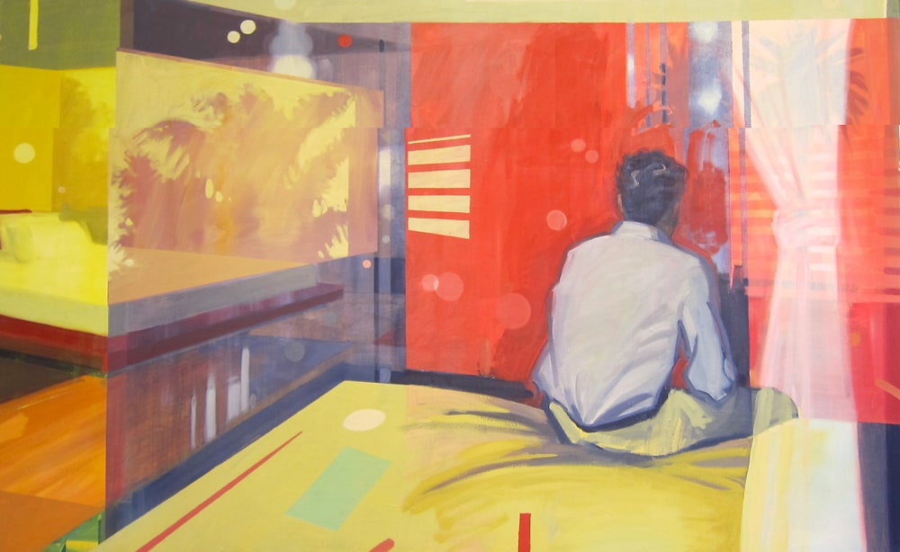 a morning to remember,50x80:oil on canvas