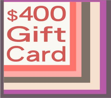 400 gift card
