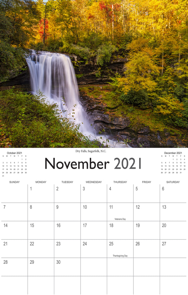 2021 Wonderful Waterfalls November