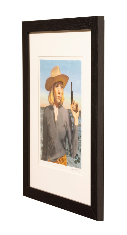 8x10 pistol cowgirl right