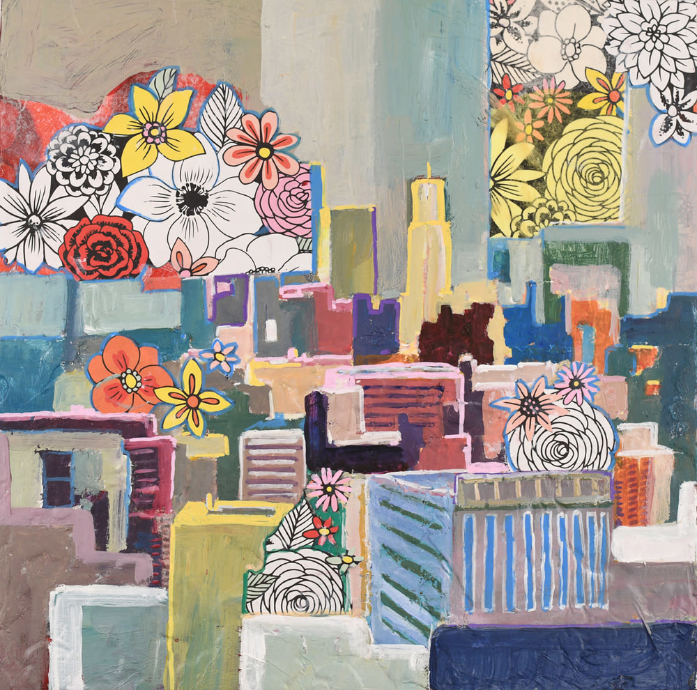 Blooming City, 16x16