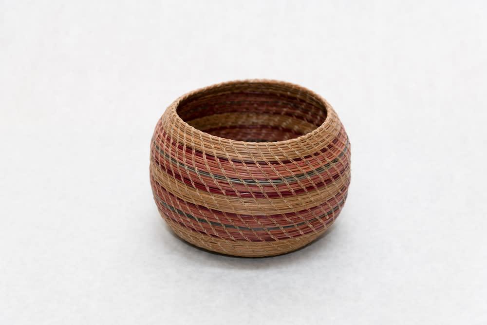 Petite Hand Woven Pine Needle Basket