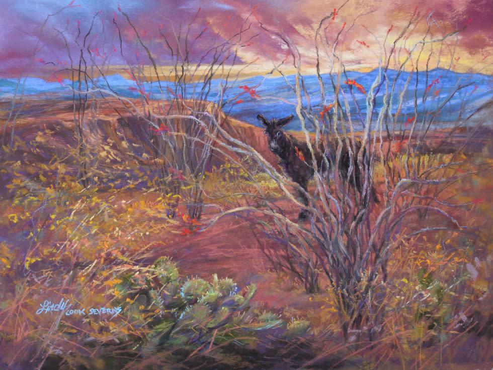 Coloring the Desert 9x12 pastel Lindy C Severns 980x copy