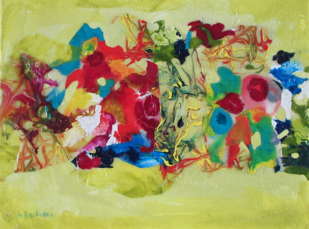 Abstract in yellow 2
