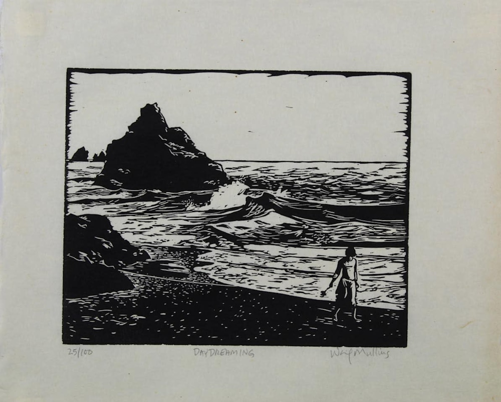 Day Dreaming, Linocut