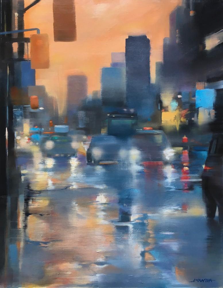 Rainy November lights