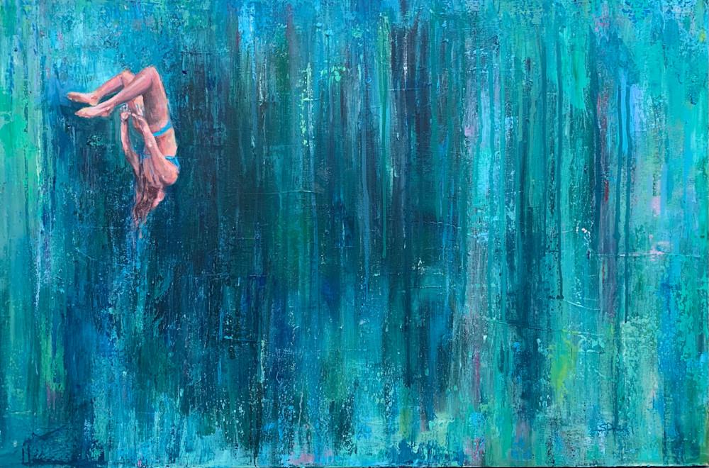 Free Fall III by Steph Fonte 91x61cm 2020