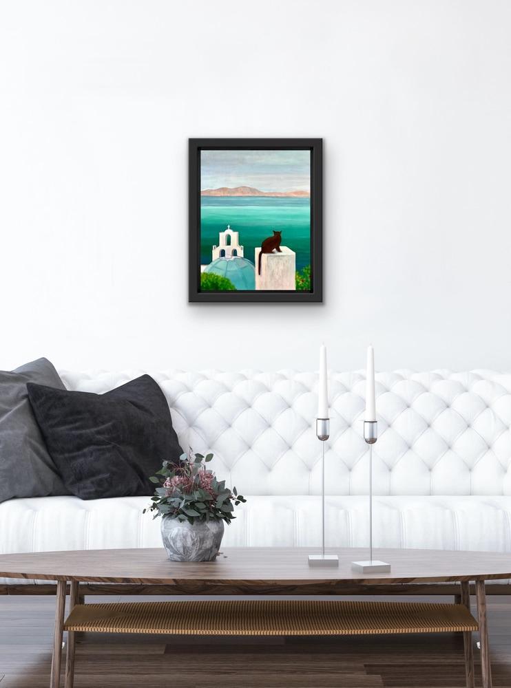 Santorini Dreaming in your beautiful living room