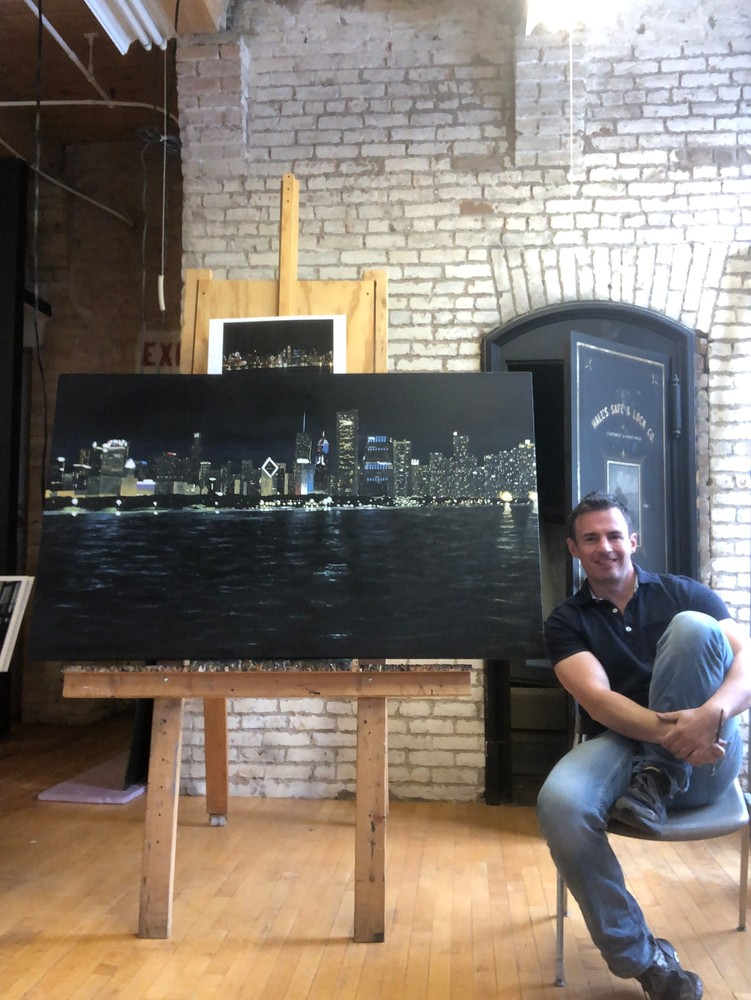 Self with Chicago Skline