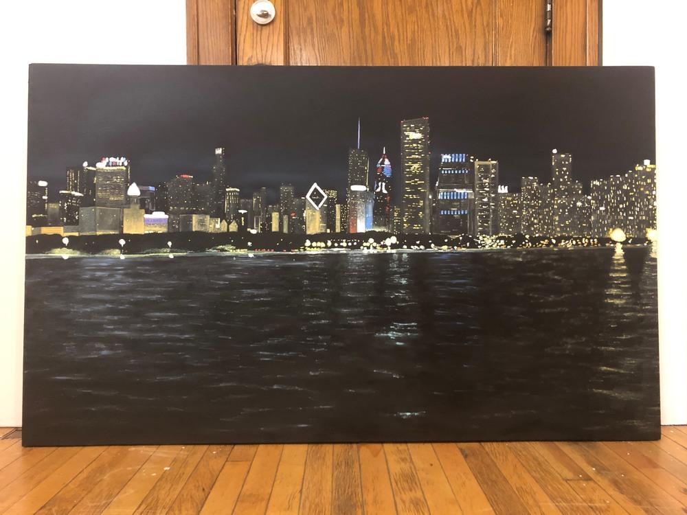 Chicago Skyline on Studio Floor