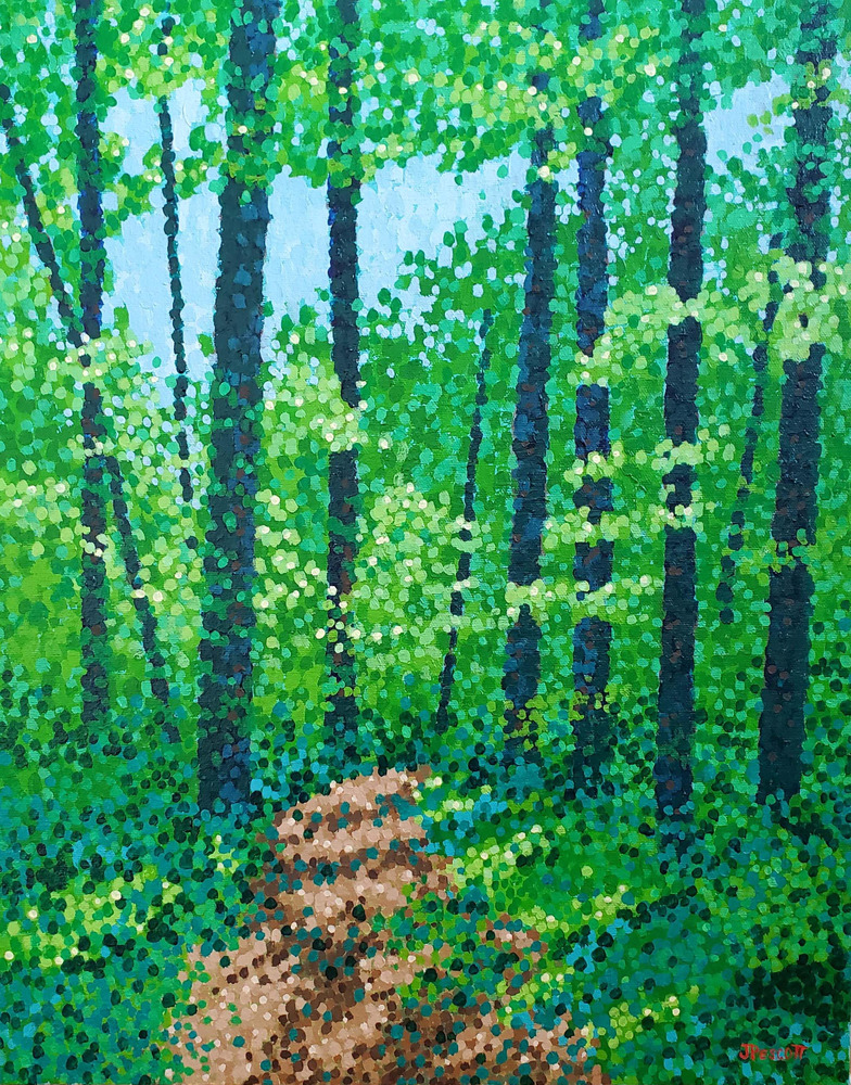 Pescott A Walk in the Woods 16x20