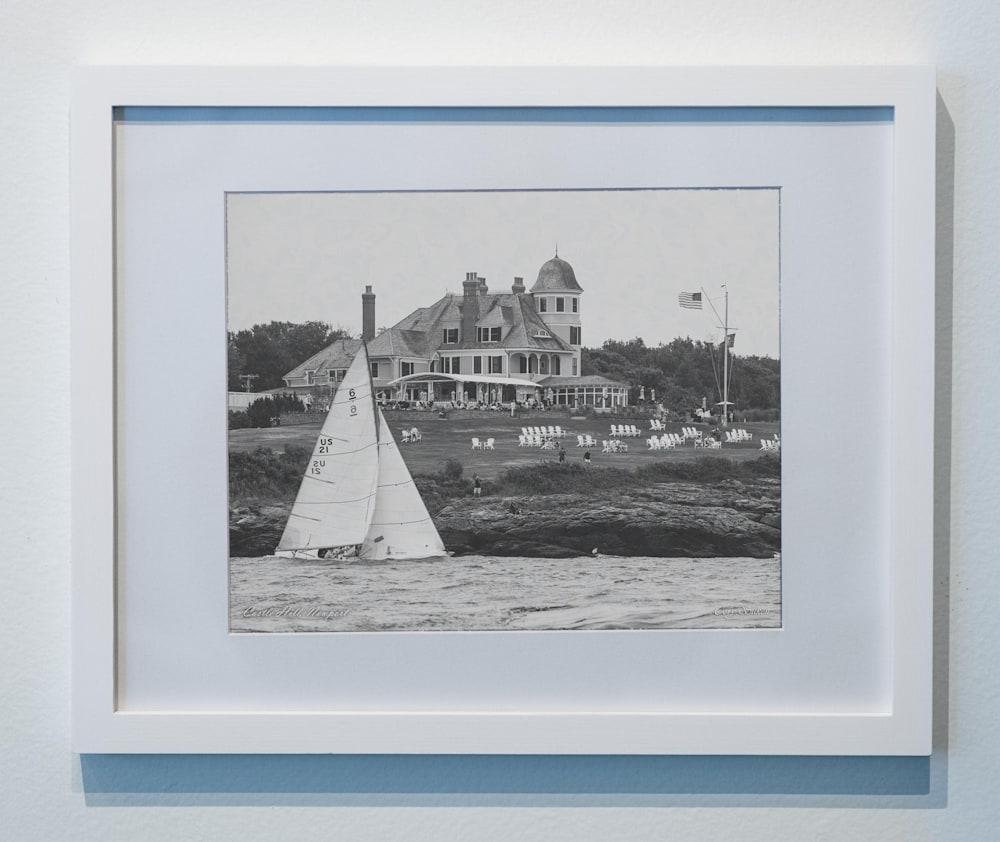 Castle HIll black and white framed poster