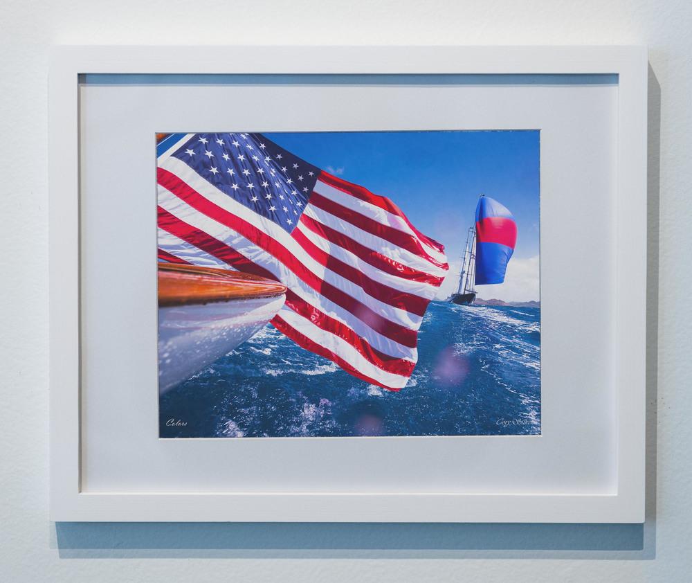 Colors American Flag framed sailing poster