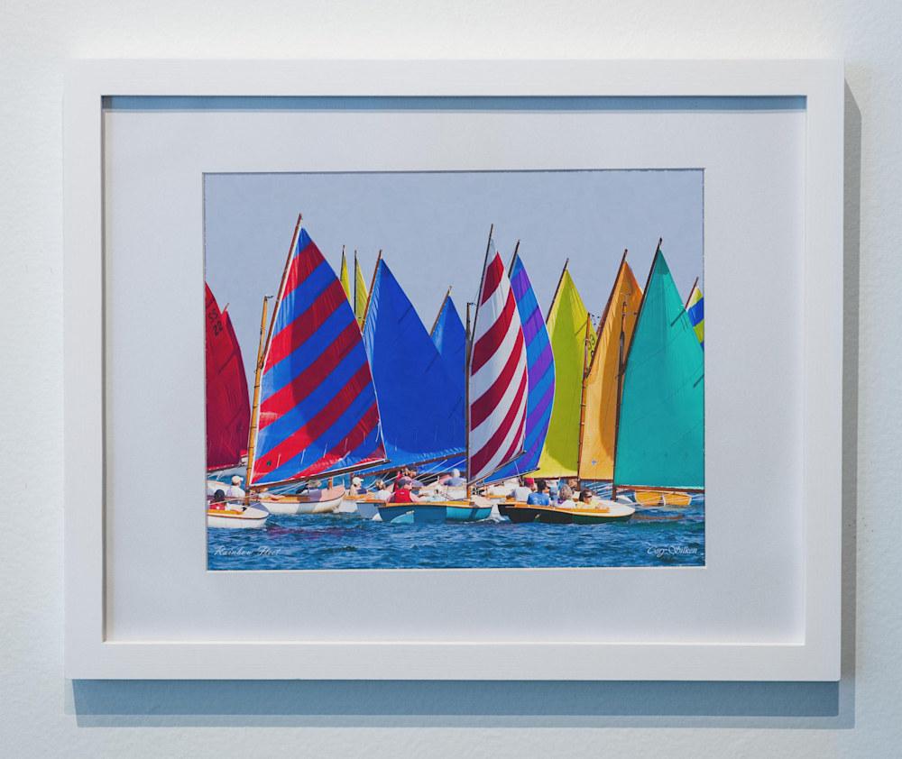 Rainbow Fleet Nantucket framed poster