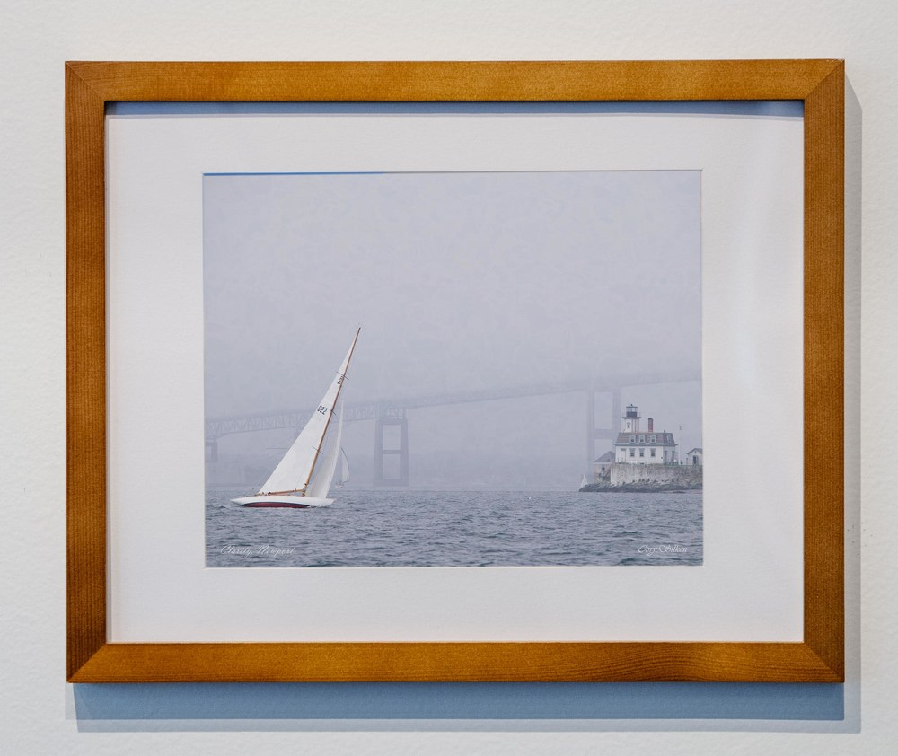 Clarity Newport Bridge Fog poster