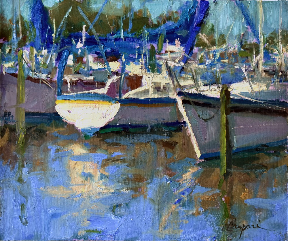 Marina Light, 12x10, Plein Air Oil, 2020