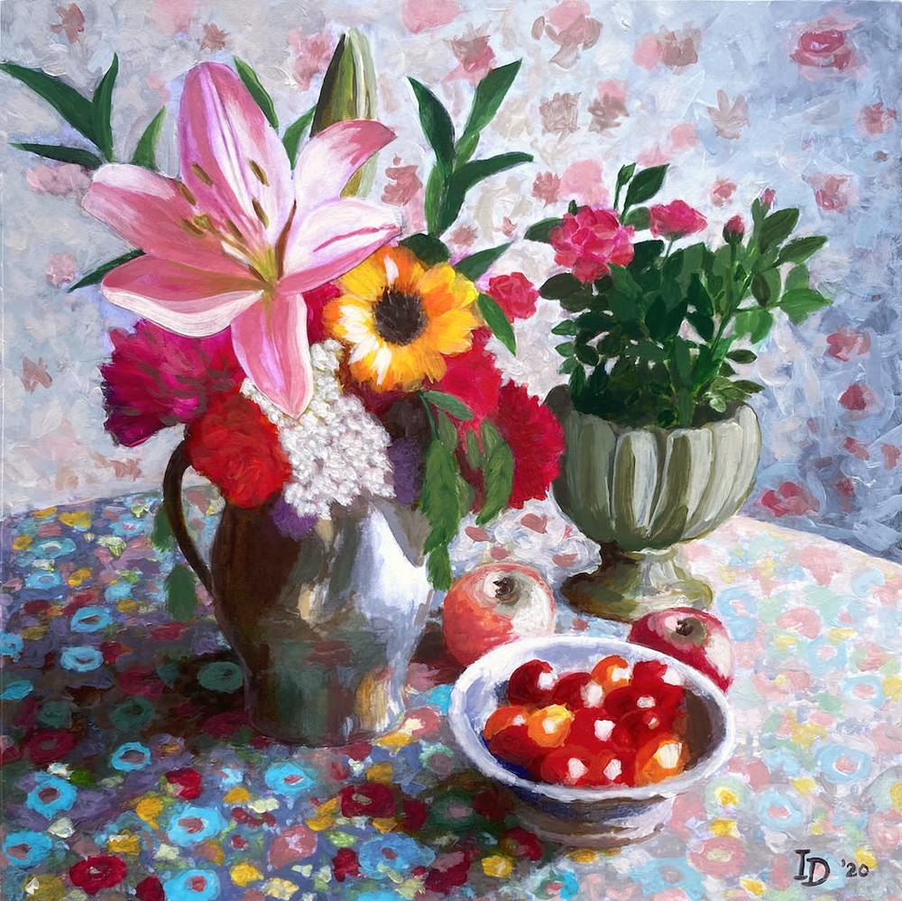 Inna Dzhanibekova 08 Still Life with Lily and Tomatoes adj res