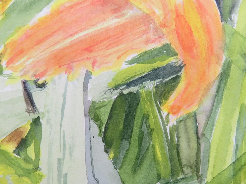 Flaming watert lily detail II