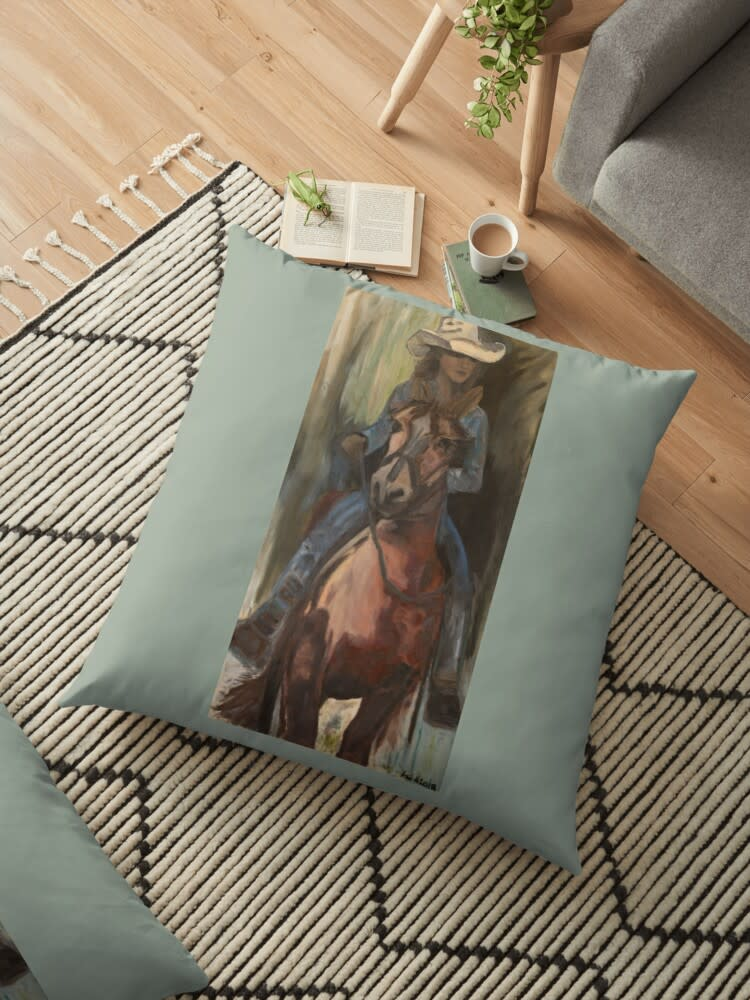 cowgirl floor pillow 1