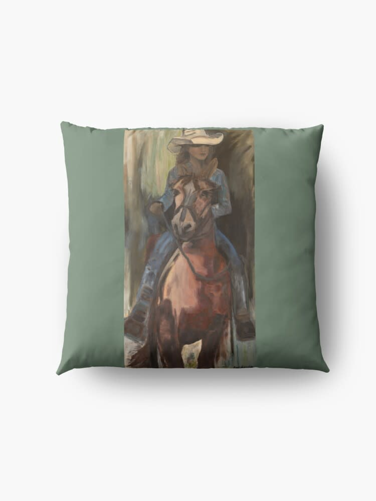 cowgirl floor pillow simple