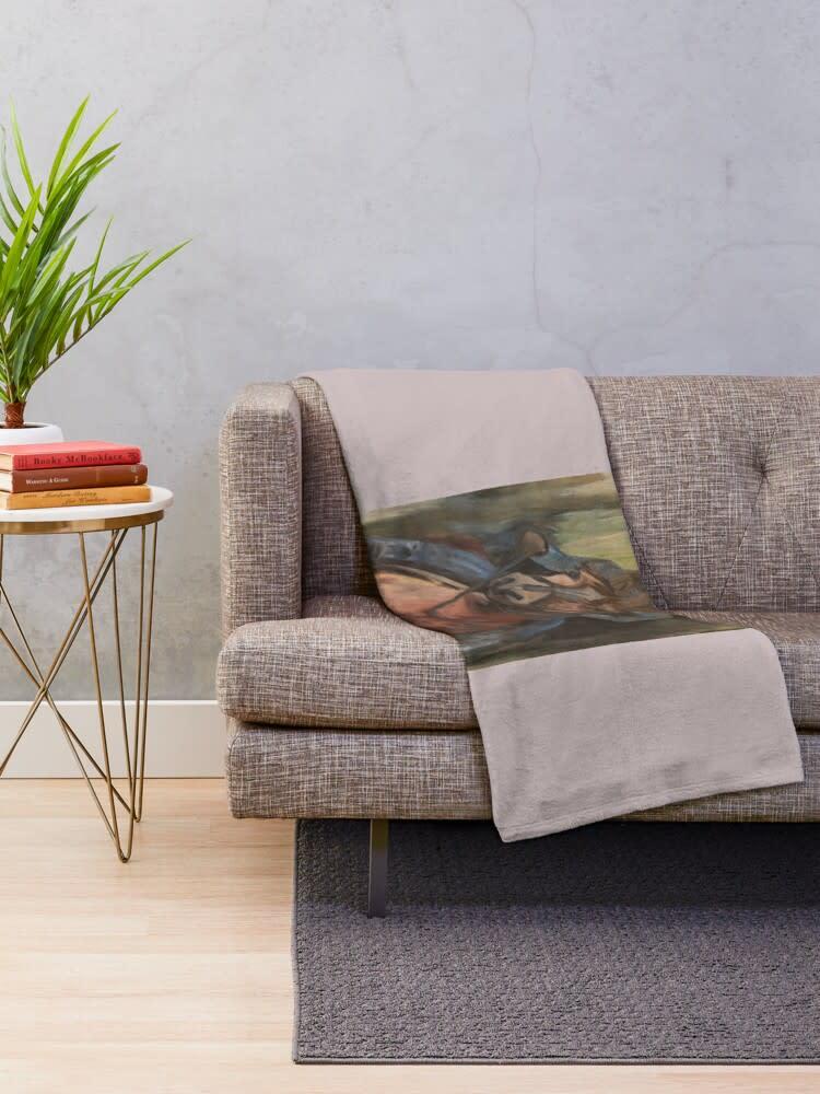cowgirl grey sofa throw blanket