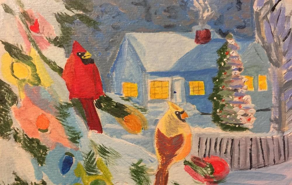 Christmas Cardinals   300 dpi