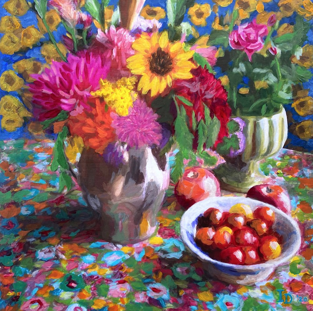 Inna Dzhanibekova 01 Still Life with Yellow Zinnia res