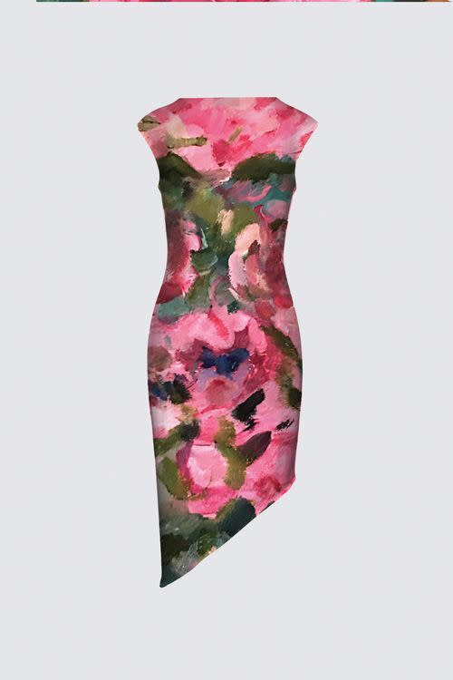 Lady in Bloom Felicia Asymmetric Dress designed by ArtistBack