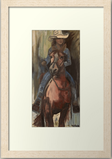 Screenshot 2020 11 28 'Go West Cowgirl By Artist Ane ' Framed Print by AneHoward(2)