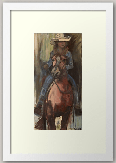Screenshot 2020 11 28 'Go West Cowgirl By Artist Ane ' Framed Print by AneHoward(4)