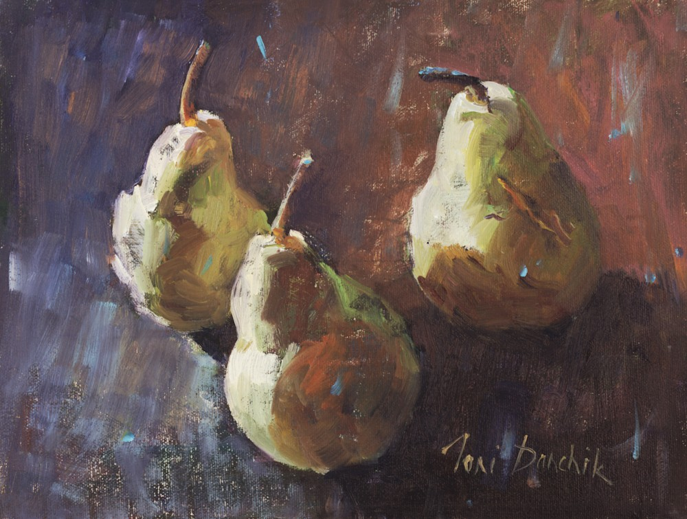 Toni Danchik Three Rustic Pears 12 x 9
