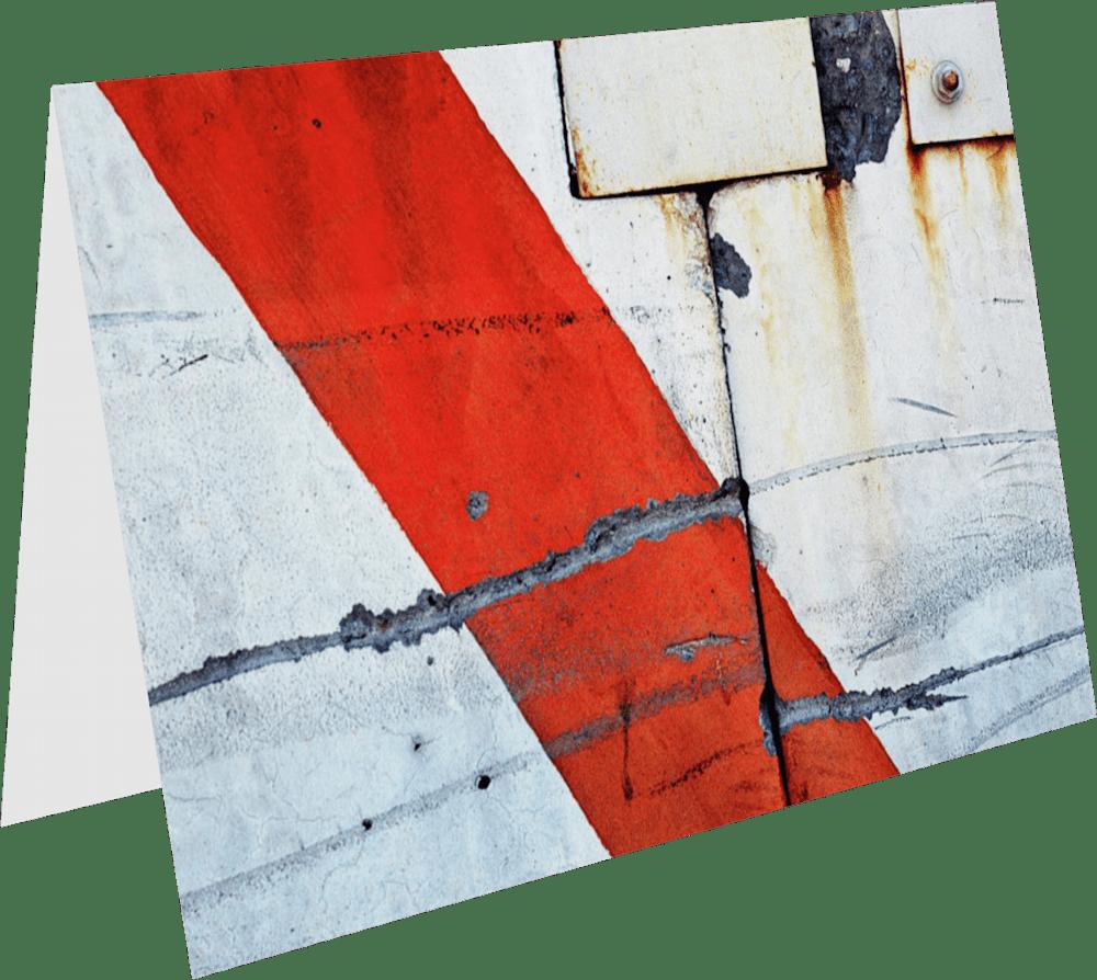 CLOSER NY BARRICADE ACNY2202 abstract photography Sherry Mills PRINT 3 GREETING CARD 1