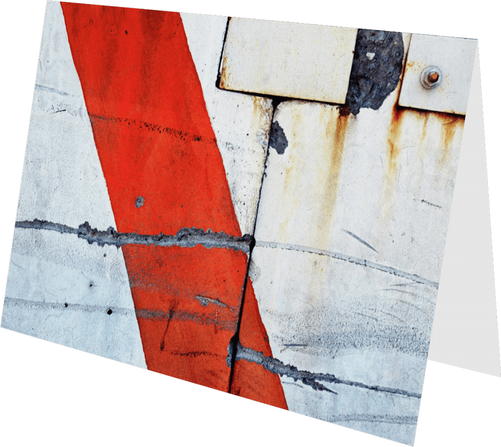 CLOSER NY BARRICADE ACNY2202 abstract photography Sherry Mills PRINT 3 GREETING CARD 2
