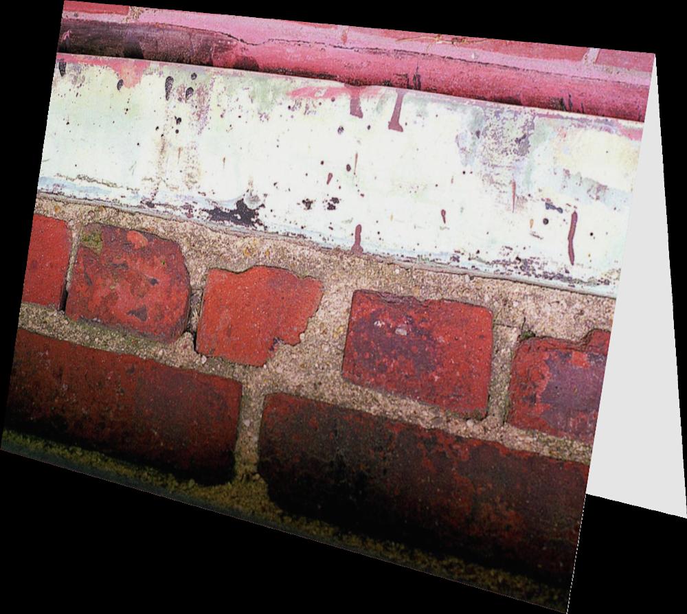 CLOSER NY BROOKLYN BRICKS ACNY2383 abstract photography Sherry Mills PRINT 3 GREETING CARD 2