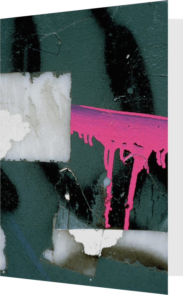 CLOSER NY PINK BARRICADE ACNY2213 abstract photography Sherry Mills PRINT GREETING CARD 1