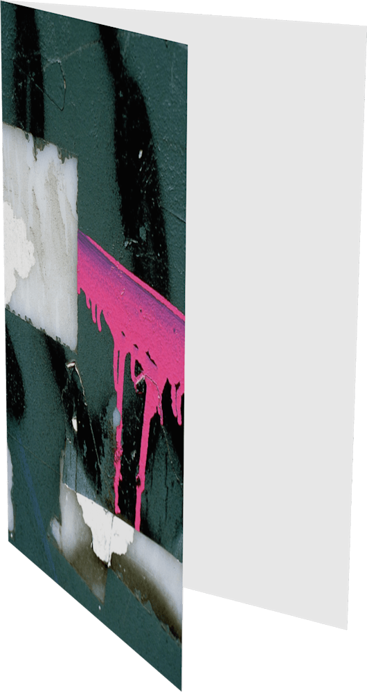 CLOSER NY PINK BARRICADE ACNY2213 abstract photography Sherry Mills PRINT GREETING CARD 2