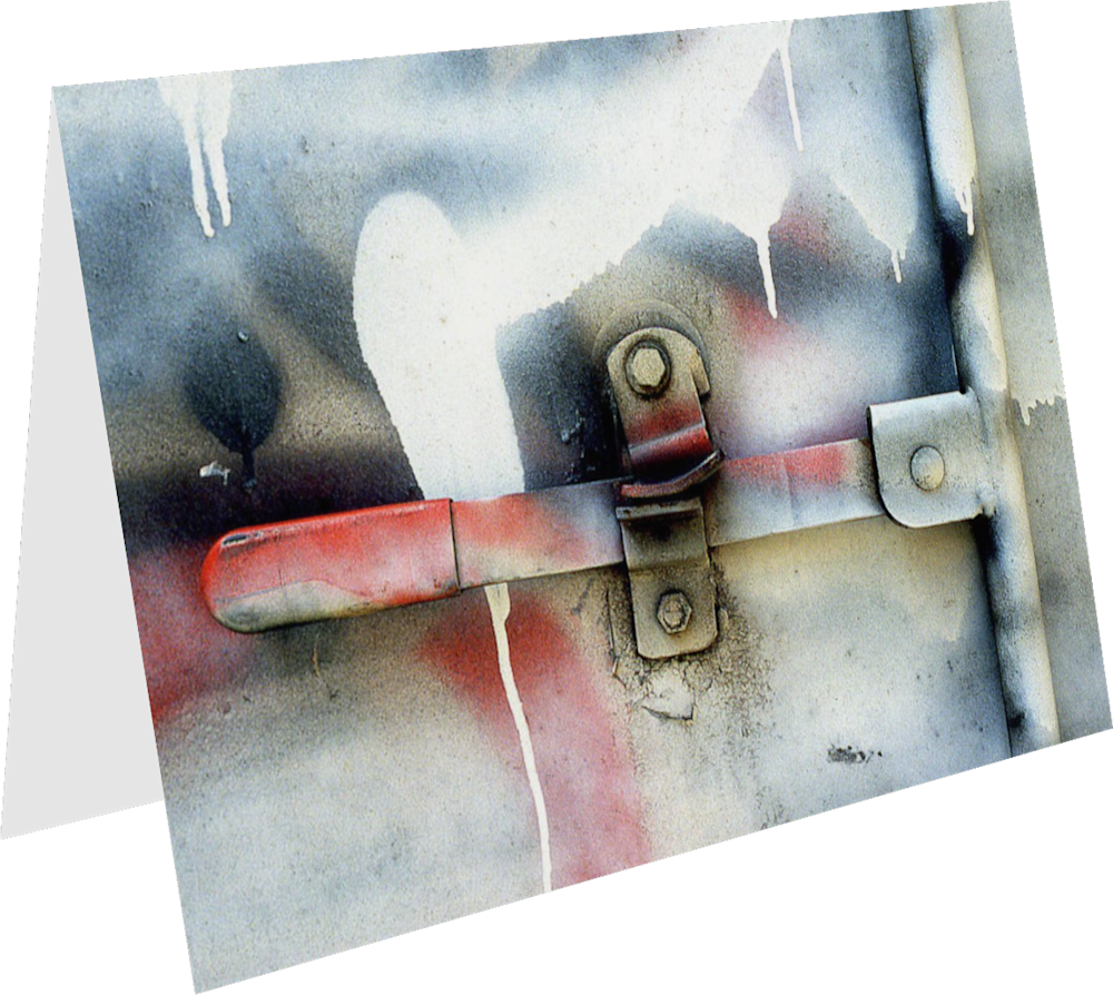 CLOSER NY TRUCK HANDLE ACNY2196 abstract photography Sherry Mills PRINT 3 GREETING CARD 1