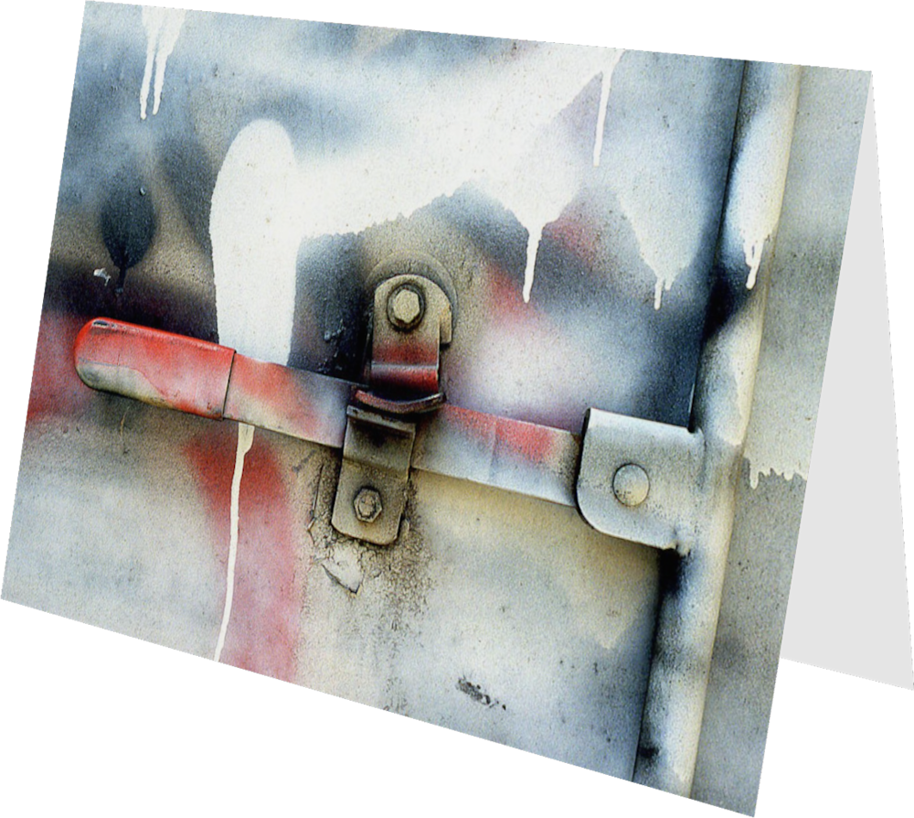 CLOSER NY TRUCK HANDLE ACNY2196 abstract photography Sherry Mills PRINT 3 GREETING CARD 2