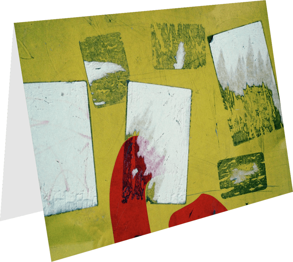 CLOSER NY YELLOW ELIZABETH ACNY2396 abstract photography Sherry Mills PRINT GREETING CARD 1