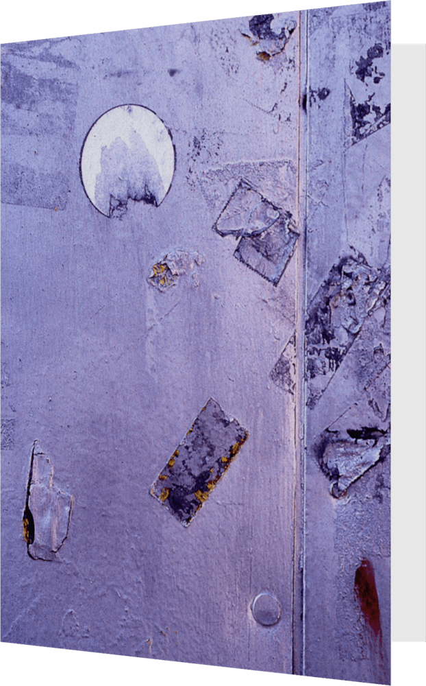 CLOSER NY LAVENDER KIOSK ACNY277 abstract photography Sherry Mills PRINT GREETING CARD 1