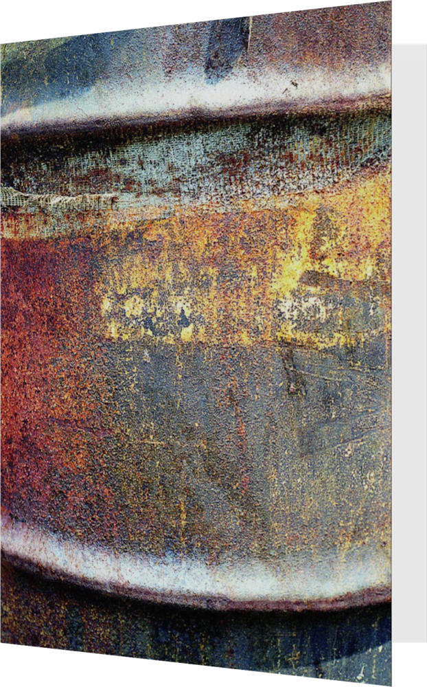 CLOSER NY OIL DRUM ACNY2378 abstract photography Sherry Mills PRINT 3 GREETING CARD 1