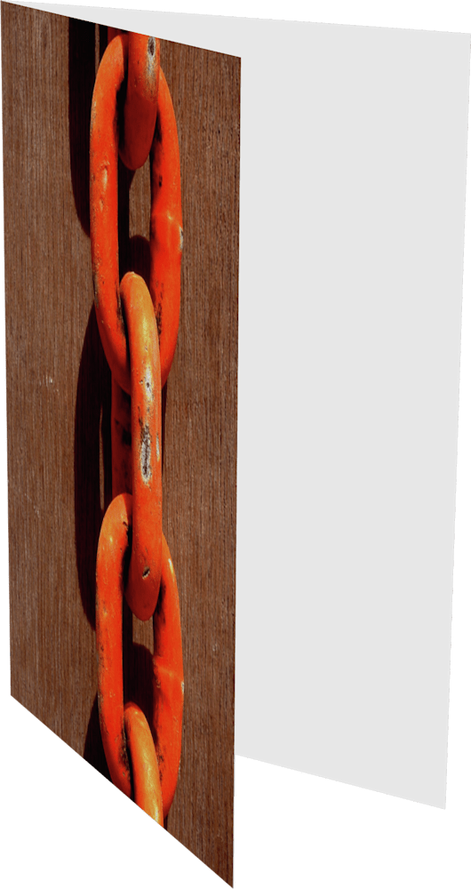 CLOSER NY ORANGE CHAIN ACNY2189 abstract photography Sherry Mills PRINT 4 GREETING CARD 2