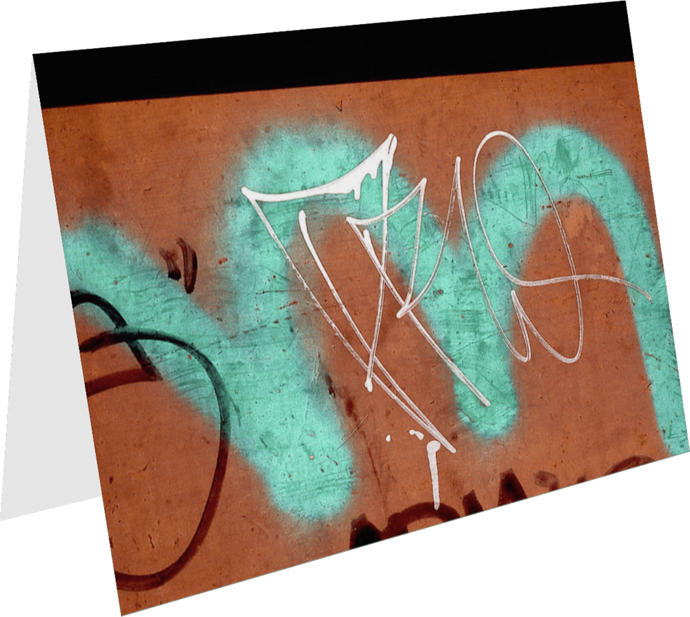 CLOSER NY TEAL M ACNY186 abstract photography Sherry Mills PRINT GREETING CARD 1