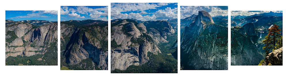 Yosemite Valley 5 Panel for Web Site 8000x2000 px