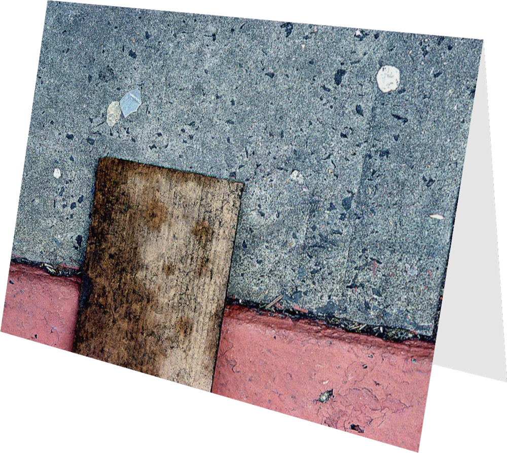CLOSER NY CARDBOARD ACNY120 abstract photography Sherry Mills PRINT GREETING CARD 2