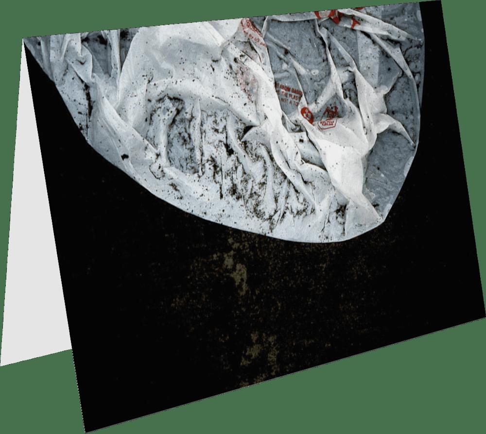 CLOSER NY BAG HEAD ACNY435 abstract photography Sherry Mills PRINT 3 GREETING CARD 1