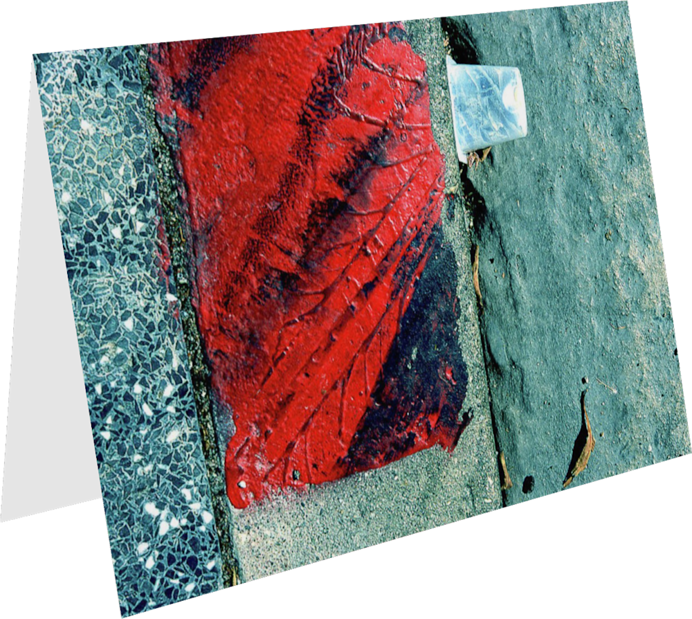 CLOSER LA HOLLYWOOD BOULEVARD LA091 abstract photography Sherry Mills PRINT GREETING CARD 1
