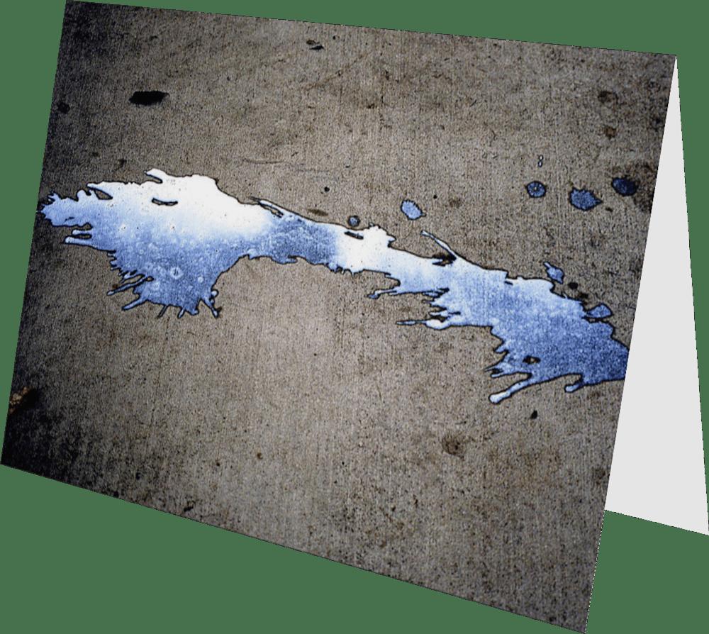 CLOSER SD MILKSHAKE SD161 abstract photography Sherry Mills PRINT 2 GREETING CARD 2