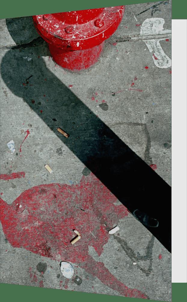 CLOSER NY HYDRANT BOTTOM ACNY2201 abstract photography Sherry Mills PRINT GREETING CARD 1